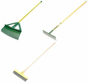 Image Is Loading Large Garden Rakes Grass Soil Leaf Hay Lawn
