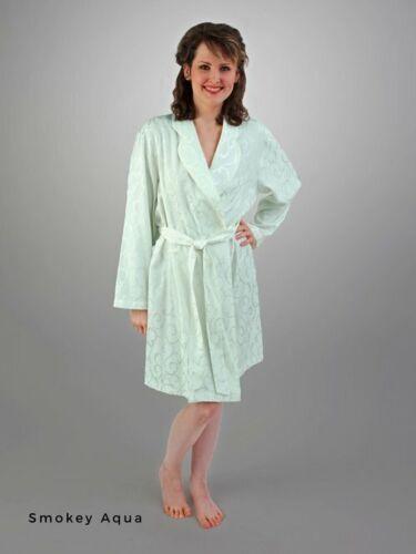 Silk Short Robe,2X Linda Hartman Smoke