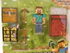 Series 1 Minecraft Steve Survival Pack Figure Action Steve Overworld