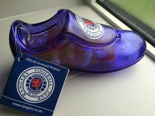 inc jelly beans bleu plastique transparent tirelire Rangers fc football boot