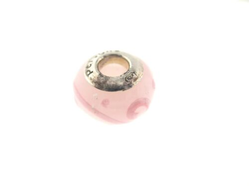 """PERSONA Sterling Silver /""""pink scroll Italien Verre/"""" Bead Charme H11778PM"""
