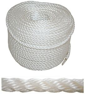 Marine Rope Building & Hardware Confident 100mtrs X 12mm Pe Silver Rope