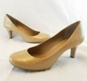 BCBG-Patent-Leather-Beige-Pumps-Heels-Shoes-Women-039-s-Size-6-1-2B-6-5-B-BG-GUMBY