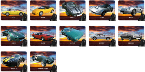 Lotus Auto Modelle Car Mousepad Handauflage Mauspad mit Motiv