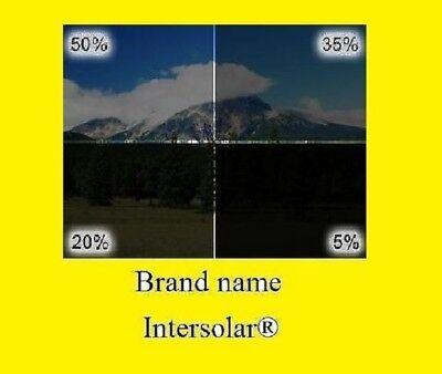 """Window tint Film 2 ply HQ   5/% 20/% 35/% 50/% 30/"""" Inch x 50 /'Feet  Intersolar®"""