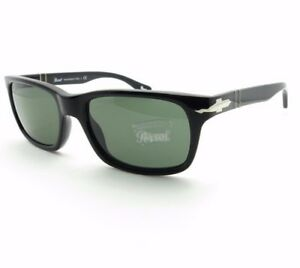 50ceb57343 Persol PE 3048 95 31 Black Green New Authentic Sunglasses