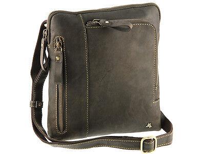 Visconti Tablet Friendly Hunter Oiled Leather Messenger Shoulder Bag - 15056