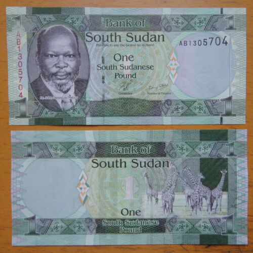 South Sudan Banknote 1 Pound 2011 UNC