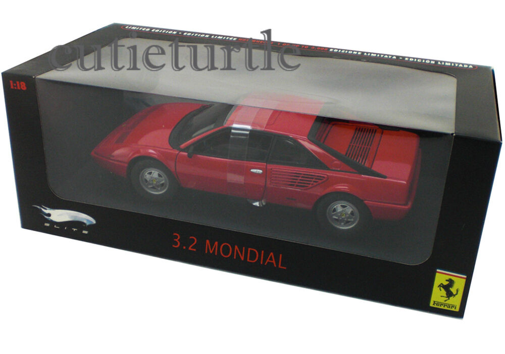 Hot Wheels Elite Ferrari 3.2 Mondial 1 18 Diecast Modelo Coche P9889 Rojo