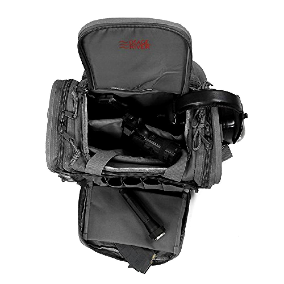 Tactical Shooting Gun Range Bag Gunmetal Grau Light Duty 13.5 x 10.5 x 7.5 Inch