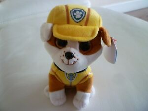 9b9518b69ad TY RUBBLE BULLDOG PAW PATROL OFFICIAL BRAND NEW BEANIE BOOS PLUSH ...