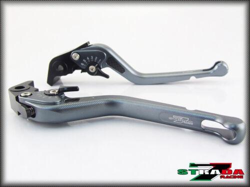 Strada 7 CNC Long Carbon Fiber Levers Yamaha FJR 1300 2004-2013 Grey