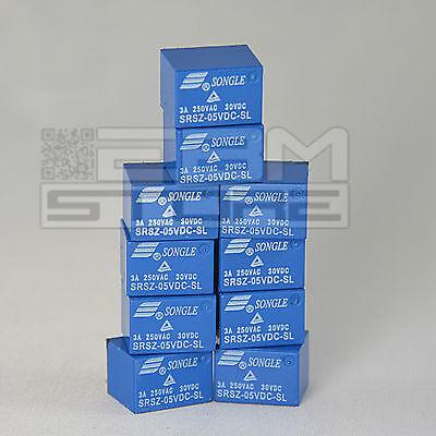 10 pz Relay 5Vdc 3A da circuito stampato, relè 5V 1 scambio - ART. EA08