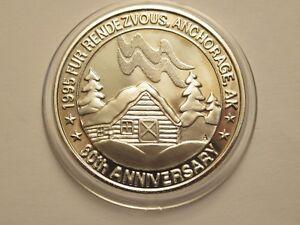 1-oz-Silver-Round-999-fine-1995-Alaska-Fur-Rendezvous-60th-anniversary