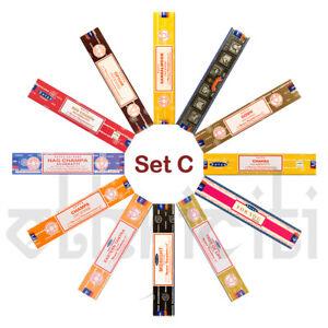 12-paquete-Variety-Satya-Genuino-Nag-Champa-Incienso-Joss-Conjunto-C-Aromas-mixto