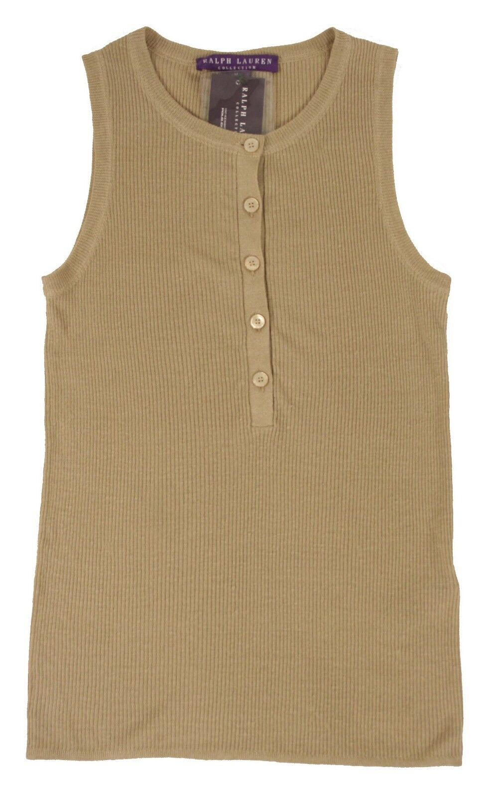 Ralph Lauren lila Label Linen Tank Top Shirt New