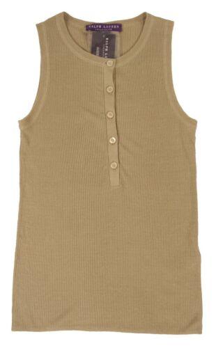 Ralph Lauren Purple Label Linen Tank Top Shirt New $698