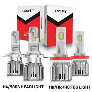4PCS LED Headlights Fog Light White for Toyota Tundra 2014-2020 Tacoma 2012-2015