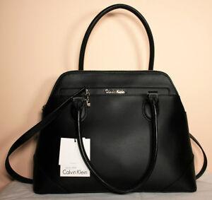 Calvin Klein Black Leather Structured