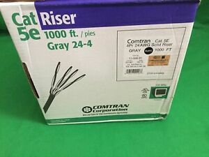 1000-039-Cat-5e-Riser-Cable-24-4-Gray-Solid-CU