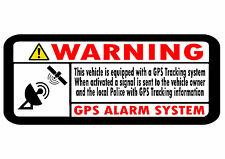10 X calcomanías Seguridad de rastreo GPS Coche Moto Scooter Motocicleta 70mm