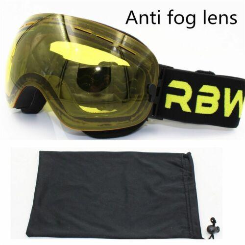 Ski Goggles Layers Lens Adult Anti-fog Uv400 Skiing Snowboard Men Women Glasses