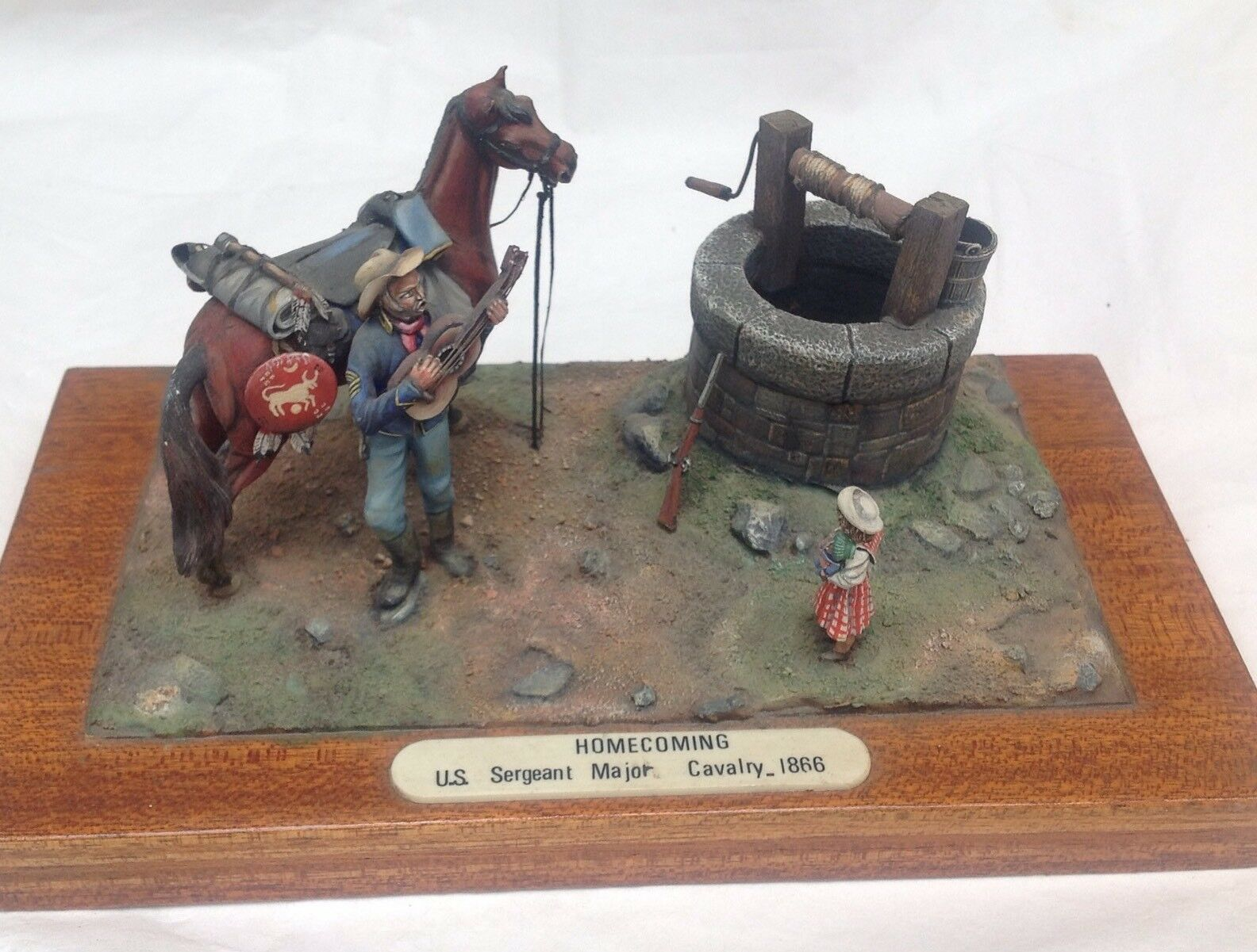 Model Diarama American Civil War Solider ACW Home Coming Figure Vintage
