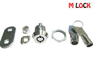 "LOF OF 12 5/8"" Tubular Cam Lock; 180 degree w/ 2 key pulls, keyed alike"