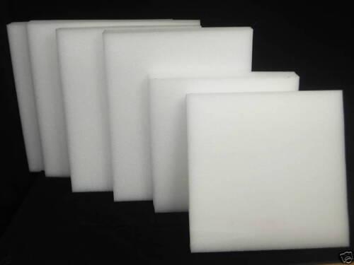 "Lot of 6 Polyethylene Plank Foam 24/"" x 24/"" x 2/"" Density 1.7 PCF"
