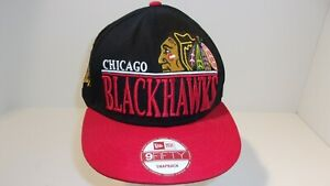 d8fc0ce96 Details about NHL Chicago Blackhawks New Era 9 Fifty Snap Back Hockey Hat  Cap