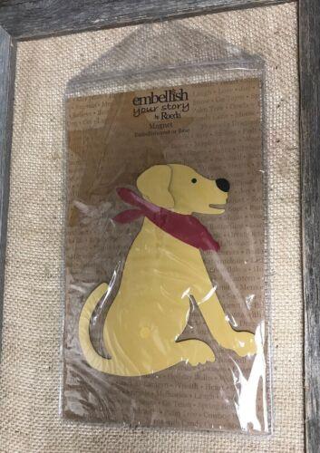 New NIP Roeda Embellish Your Story Magnet dog Yellow Lab 13991 Red Bandana