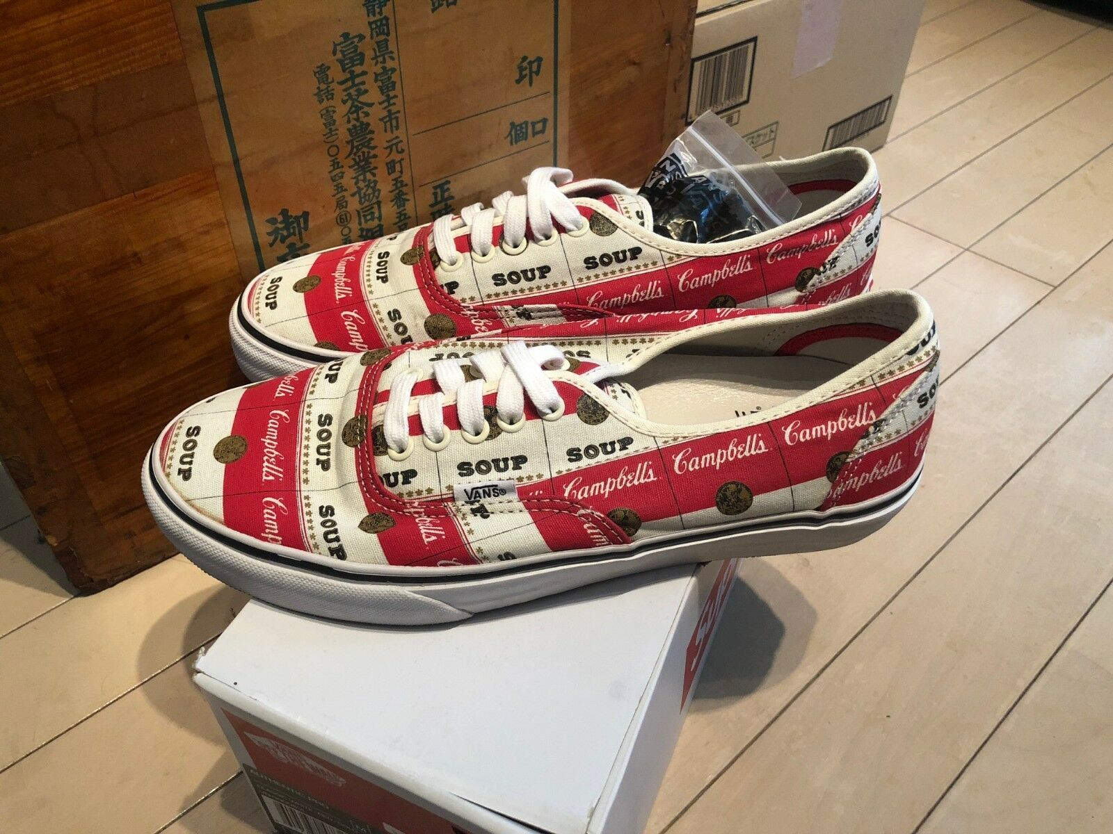 Supreme NYC x Vans - Campbell's Soup Authentic Pro Classic Red White sz 9.5