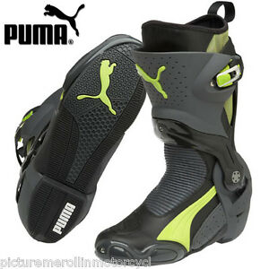 Details about BLACK GREEN PUMA 1000 V3 MOTORCYCLE ROAD RACE MOTORCYCLE BOOT – BEST YOU CAN BUY