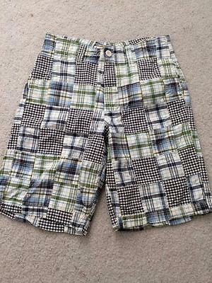 Urban Pipeline UP board shorts mens size 32 blue green white plaid shorts cotton