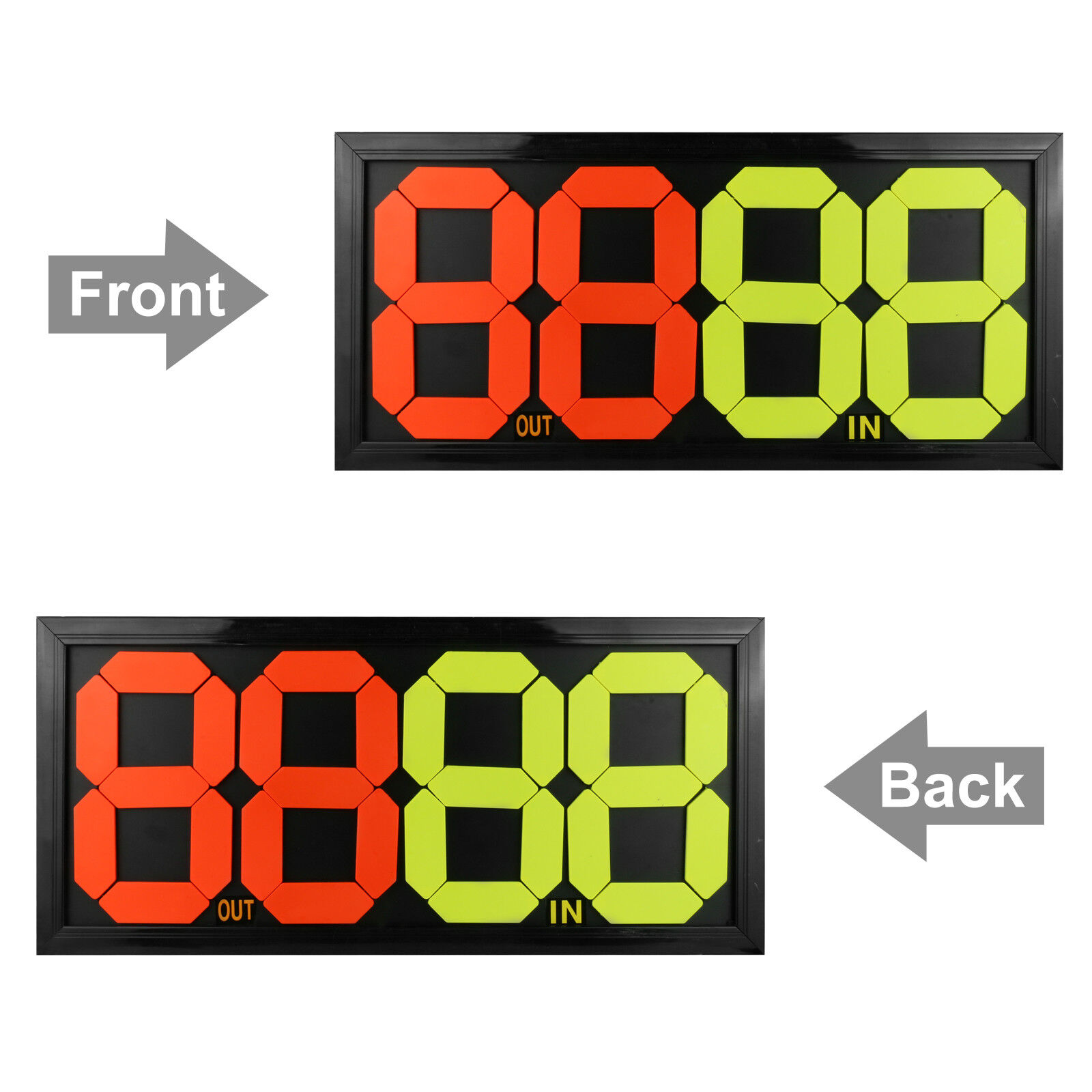 c6645f4ebf5 4-Digits Double Side Football   Soccer Athlete Substitution Board Display  Out In