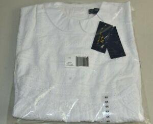 NEW Polo Ralph Lauren Girls WHITE EYELET Dress Sleeveless Peter Pan Collar 6 X