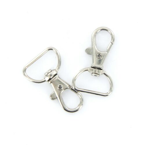 30pcs Lobster Clasps Swivel Trigger Clips Snap Hooks Bag Keychain Key Ring