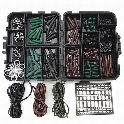 Assorted Carp Hooks, Hoses, Swivels, Beads, Sleeves Fishing Accessories Tool Set