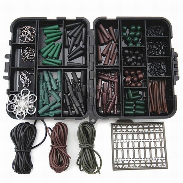 1 set Assorted hooks carp fishing accessories, hoses, swivels, beads, sleeves