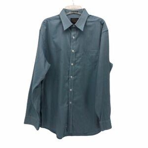 Pendleton-Mens-Button-Front-Shirt-Blue-Stripe-Long-Sleeve-Point-Collar-Pocket-L