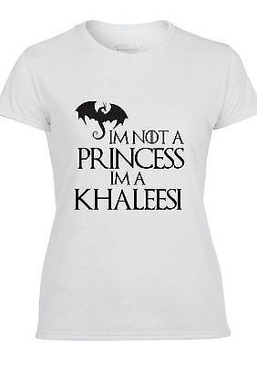 Im Not A Princess Im A Khaleesi Game Of Thrones Women's Cotton Crew Neck T-Shirt