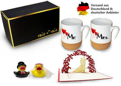 Suche Nach FlüGen Mr & Mrs Kaffeetassen Kork Geschenkset Gastgeschenk Hochzeit Geschenk Geburtstag Letzter Stil