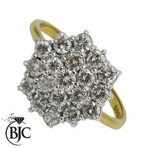 BJC-18-ct-oro-amarillo-1-50ct-tamano-S-Anillo-Pedida-Diamante-Cluster-R84