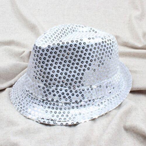 Children Kids Boys Girls Adults Sequin Cap Dance Dancing Party Jazz Hat Sun Hat