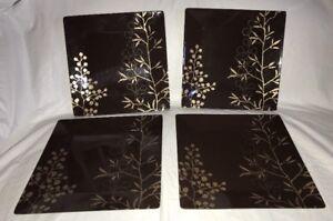 Details about TARGET HOME Set of 4 Melamine Plates 10 1/8