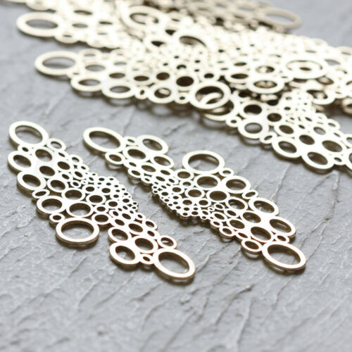 Link 55x17mm 2 Pieces Laser Cut Solid Brass Multi Ring CW-4351C