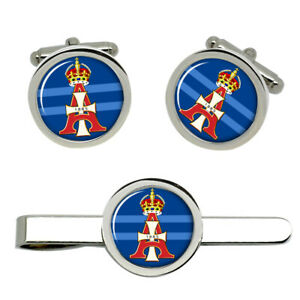 19th-Royal-Hussars-Queen-Alexandra-039-s-Own-Army-Cufflinks-and-Tie-Clip-Set