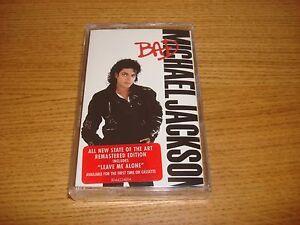 Michael-Jackson-Bad-2001-Remastered-Edition-Cassette-Tape-Album-Mega-Rare