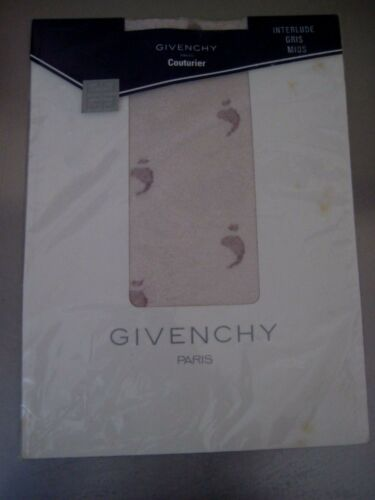Vintage Givenchy Paris Couturier Ultra sheer pantyhose. Interlude Gris Mids.