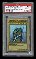 Yugioh Metal Raiders GARNECIA ELEFANTIS Super Rare 1st Edition PSA 10 Gem Mint